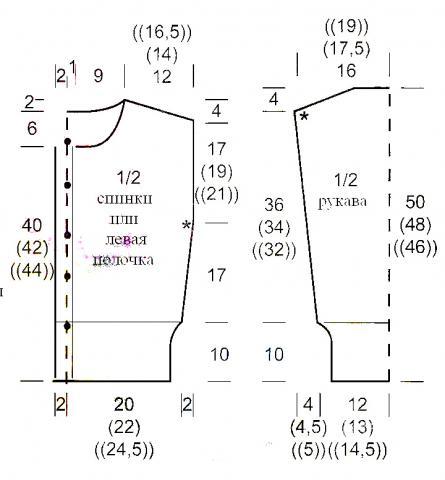 Схема вязания короткий жакет с воротником раздел вязание спицами для женщин кофты спицами женские