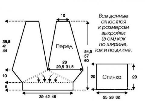 Схема вязания кроп топ с перекрещенными лямками раздел вязание спицами для женщин кофты спицами женские