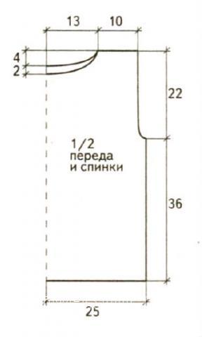 Схема вязания меланжевая туника с бахромой раздел вязание спицами для женщин кофты спицами женские