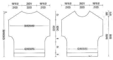 Схема вязания меланжевый джемпер с коротким рукавом  раздел вязание спицами для женщин кофты спицами женские