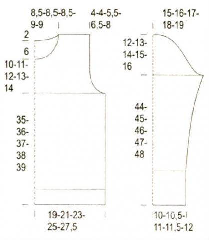 Схема вязания меланжевый джемпер с узором раздел вязание спицами для женщин кофты спицами женские