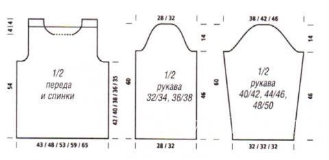 Схема вязания меланжевый джемпер с высоким воротником раздел вязание спицами для женщин кофты спицами женские