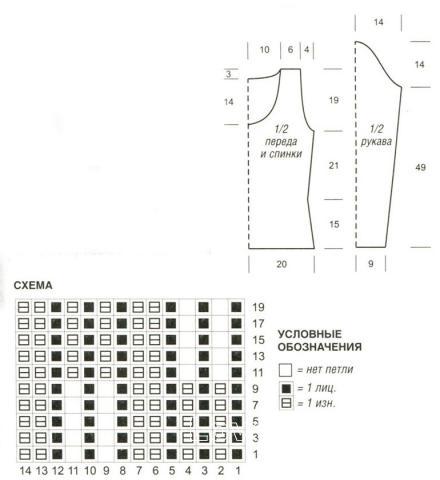 Схема вязания меланжевый пуловер раздел вязание спицами для женщин кофты спицами женские