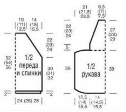 Схема вязания мохеровый джемпер с разрезами на рукавах раздел вязание спицами для женщин кофты спицами женские