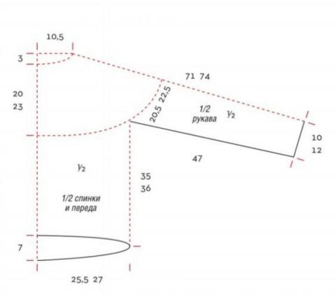 Схема вязания мохеровый пуловер с кокеткой раздел вязание спицами для женщин кофты спицами женские