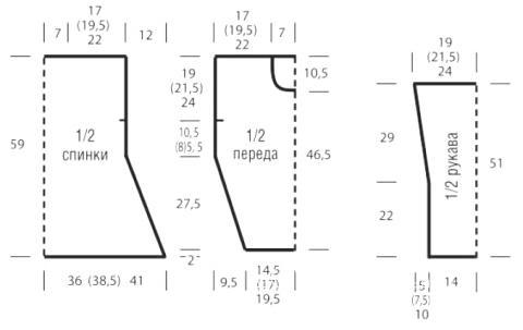 Схема вязания объемная кофта с круглым вырезом и узором из сот раздел вязание спицами для женщин кофты спицами женские