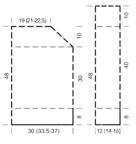 Схема вязания объемный джемпер с широкой горловиной раздел вязание спицами для женщин кофты спицами женские