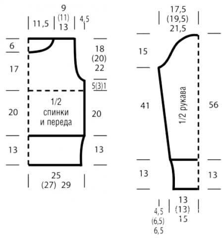 Схема вязания объемный свитер с крупными косами жемчужным узором раздел вязание спицами для женщин кофты спицами женские