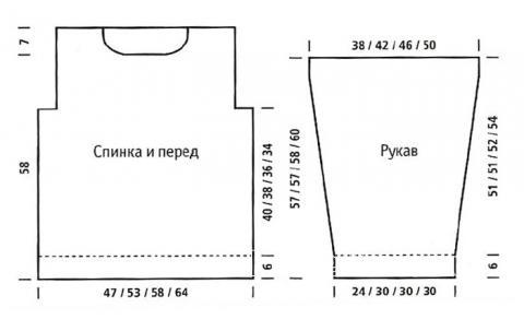 Схема вязания объемный свитер  с жаккардовым узором раздел вязание спицами для женщин кофты спицами женские