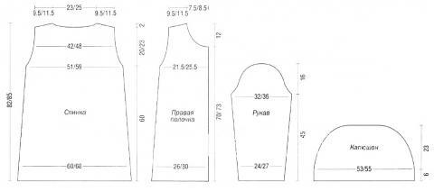 Схема вязания пальто с эффектом меха раздел вязание спицами для женщин кофты спицами женские