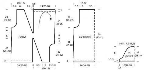 Схема вязания перекрученный джемпер раздел вязание спицами для женщин кофты спицами женские