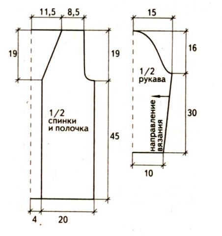 Схема вязания пестрый жакет на пуговицах раздел вязание спицами для женщин кофты спицами женские