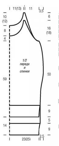 Схема вязания платье-топ с ажурным узором раздел вязание спицами для женщин кофты спицами женские