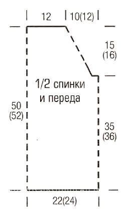 Схема вязания полосатый джемпер с воротником-стойка раздел вязание спицами для женщин кофты спицами женские