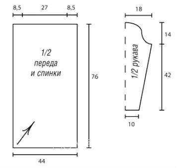 Схема вязания полосатый пуловер с асимметричной длиной раздел вязание спицами для женщин кофты спицами женские