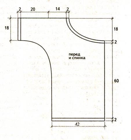 Схема вязания полосатый пуловер с одним рукавом раздел вязание спицами для женщин кофты спицами женские