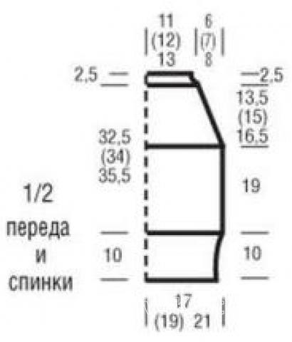 Схема вязания полосатый топ на бретелях раздел вязание спицами для женщин кофты спицами женские