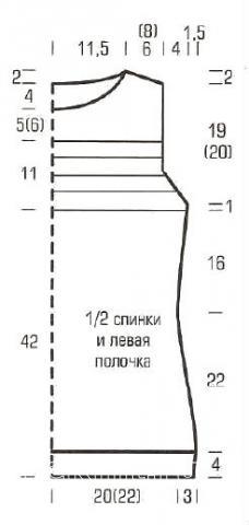Схема вязания полосатый топ с кокеткой раздел вязание спицами для женщин кофты спицами женские
