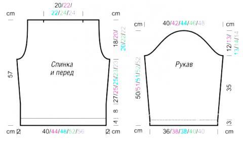 Схема вязания приталенный джемпер с вырезом лодочка раздел вязание спицами для женщин кофты спицами женские