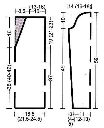 Схема вязания приталенный пуловер из цветных ниток раздел вязание спицами для женщин кофты спицами женские