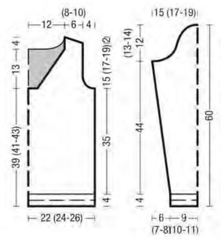 Схема вязания простой джемпер с кружевным узором на спине раздел вязание спицами для женщин кофты спицами женские