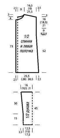 Схема вязания прямой свитшот с накладными карманами раздел вязание спицами для женщин кофты спицами женские