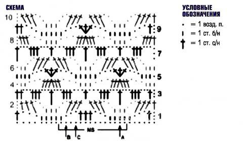 Схема вязания пуловер с ажурными рукавами раздел вязание спицами для женщин кофты спицами женские