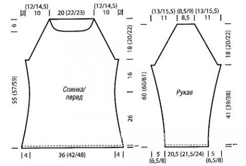 Схема вязания пуловер с бахромой и вырезом лодочкой раздел вязание спицами для женщин кофты спицами женские