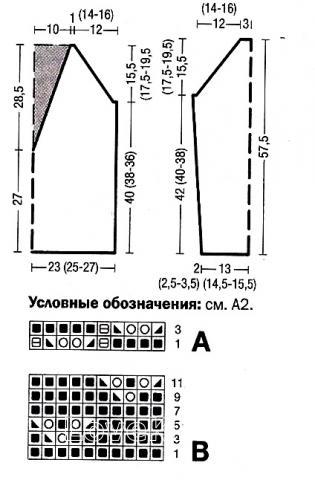 Схема вязания пуловер с цветным воротником  раздел вязание спицами для женщин кофты спицами женские