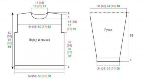 Схема вязания пуловер с геометрическим рисунком раздел вязание спицами для женщин кофты спицами женские