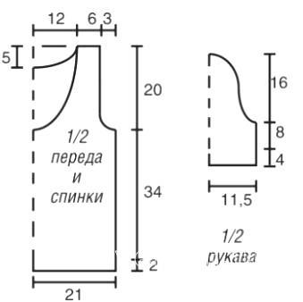 Схема вязания пуловер с глубоким круглым вырезом раздел вязание спицами для женщин кофты спицами женские