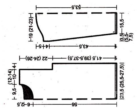 Схема вязания пуловер с графическим рисунком в черно-белом цвете раздел вязание спицами для женщин кофты спицами женские