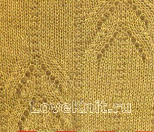 Схема вязания пуловер с контрастной полосой раздел вязание спицами для женщин кофты спицами женские
