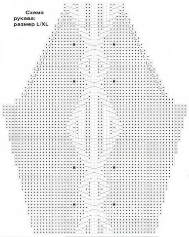 Схема вязания пуловер с крупным узором раздел вязание спицами для женщин кофты спицами женские