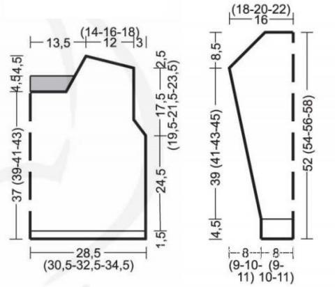 Схема вязания пуловер оверсайз с контрастным рисунком раздел вязание спицами для женщин кофты спицами женские
