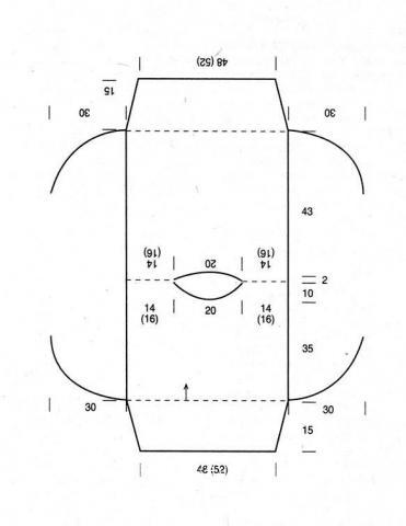 Схема вязания пуловер - пелерина раздел вязание спицами для женщин кофты спицами женские