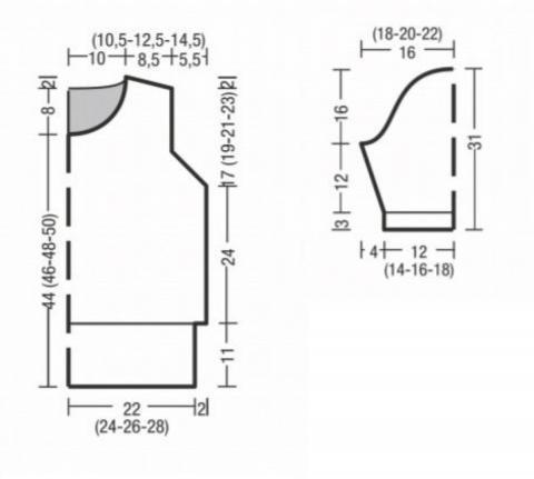 Схема вязания пуловер резинкой с контрастным рисунком раздел вязание спицами для женщин кофты спицами женские