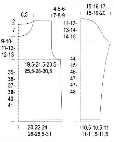 Схема вязания пуловер в широкую цветную полоску раздел вязание спицами для женщин кофты спицами женские