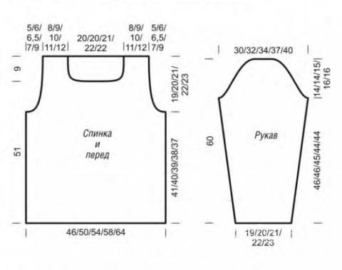 Схема вязания пуловер в тонкую полоску раздел вязание спицами для женщин кофты спицами женские
