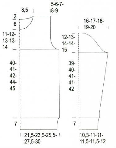 Схема вязания пуловер с вертикальными косами раздел вязание спицами для женщин кофты спицами женские