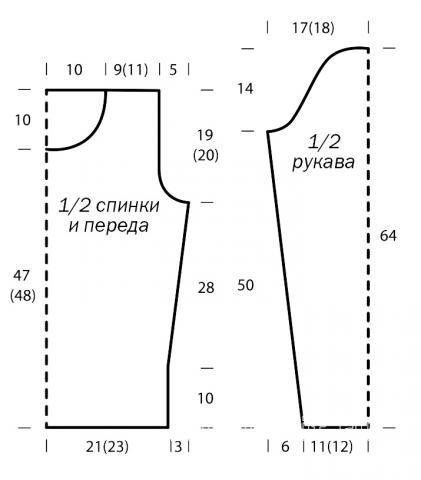 Схема вязания пушистый свитер с воротником «гольф» раздел вязание спицами для женщин кофты спицами женские