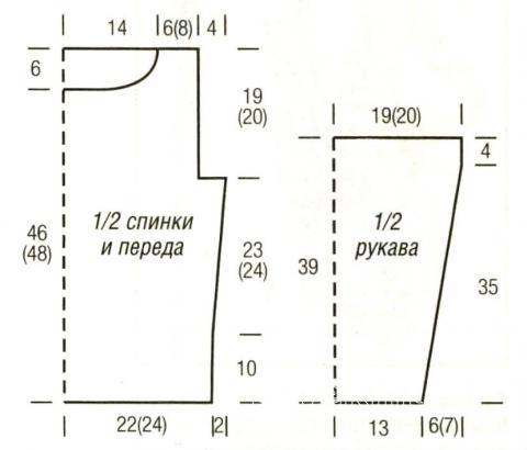 Схема вязания розовый джемпер с круглым вырезом раздел вязание спицами для женщин кофты спицами женские
