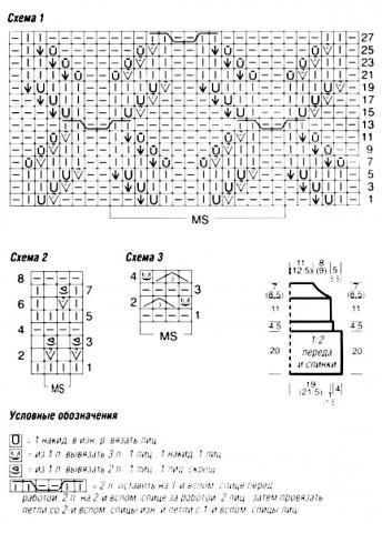 Схема вязания розовый топ с бретелями раздел вязание спицами для женщин кофты спицами женские