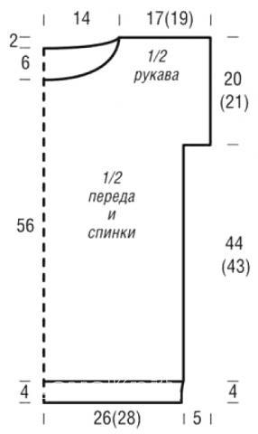 Схема вязания сетчатая туника с коротким рукавом раздел вязание спицами для женщин кофты спицами женские