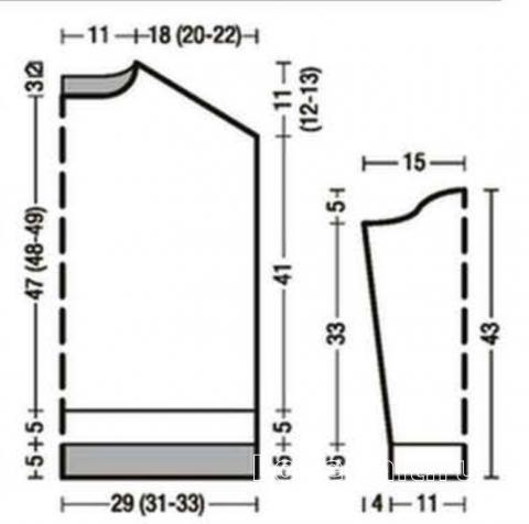 Схема вязания широкий полосатый свитер с высоким воротником раздел вязание спицами для женщин кофты спицами женские