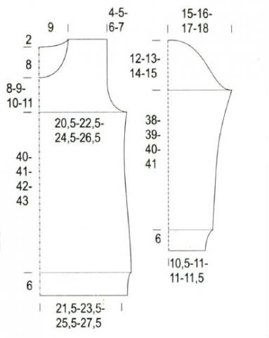 Схема вязания свитер с цветным рисунком раздел вязание спицами для женщин кофты спицами женские