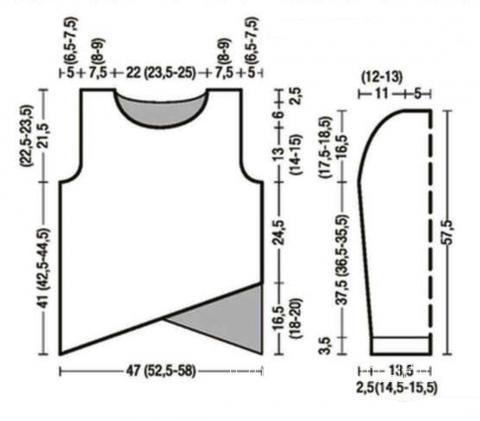 Схема вязания свитер в полоску и шапочка в тон раздел вязание спицами для женщин кофты спицами женские
