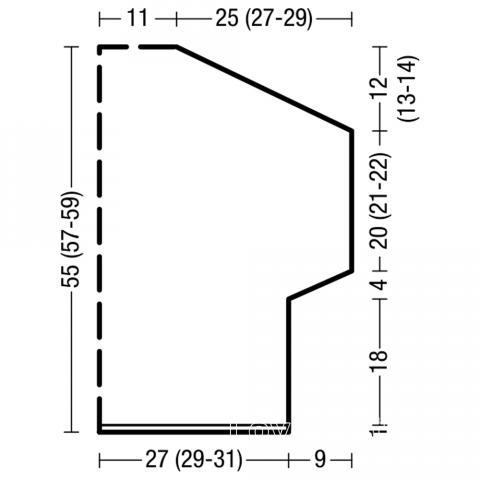Схема вязания свободная безрукавка с воротником раздел вязание спицами для женщин кофты спицами женские