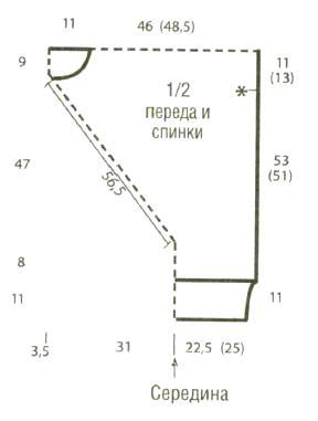 Схема вязания свободный джемпер с бахромой и большим воротником раздел вязание спицами для женщин кофты спицами женские