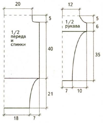 Схема вязания свободный джемпер с открытыми плечами раздел вязание спицами для женщин кофты спицами женские